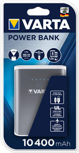 VARTA Portable Power Bank 10400 with charging cable,10400mAh