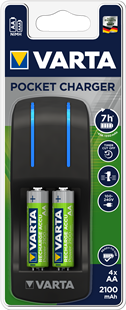 VARTA Easy Pocket Charger 4x AA 56706 2100mAh