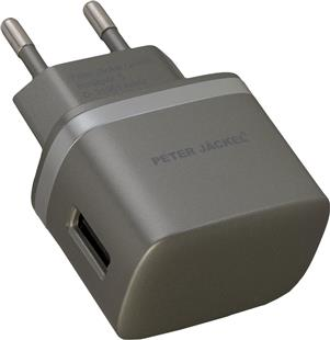 PETER JÄCKEL Premium USB Travel Charger STYLE 1A Anthrazit