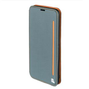 4smarts Flip-Tasche TWO-TONE für Samsung Galaxy A5 (2017) blaugrau/orange