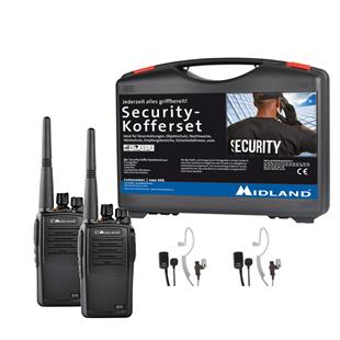 Midland G15 PMR 2er Security-Kofferset inkl. MA 31-M Security Headsets