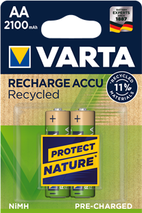 VARTA RECHARGE ACCU Recycled AA 2100mAh / HR6 / 2er Pack