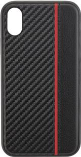 COMMANDER Back Cover CARBON PLUS für Apple iPhone XR Red Stripes