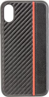 COMMANDER Back Cover CARBON PLUS Apple iPhone X / XS  Red Stripes