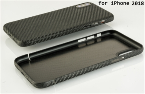 Carbon-Cover iPhone XS mit Metalleinlage