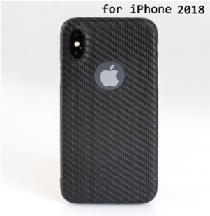 Carbon-Cover iPhone XS mit LogoWindow