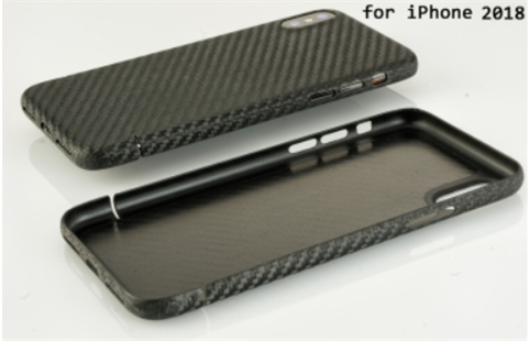 Carbon-Cover iPhone XR mit Metalleinlage