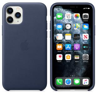 Apple iPhone 11 Pro Leder Case - Mitternachtsblau