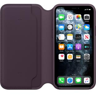 Apple iPhone 11 Pro Leather Folio - Aubergine