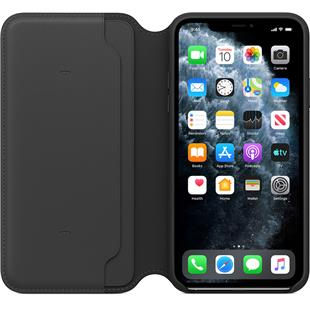 Apple iPhone 11 Pro Max Leather Folio - Schwarz