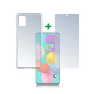 4smarts 360° Protection Set Limited Cover für Samsung Galaxy A51 transparent