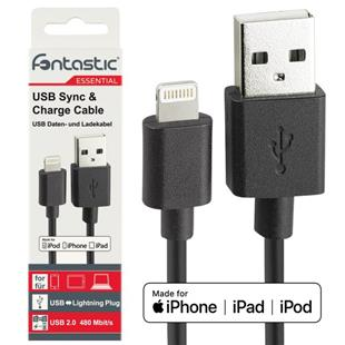 Fontastic Essential Datenkabel USB-A > Lightning 1m schwarz
