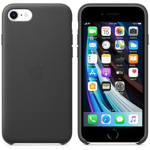 Apple iPhone SE Leder Case - Schwarz