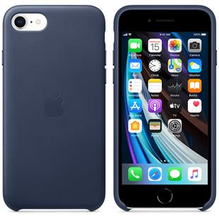 Apple iPhone SE Leder Case - Mitternachtsblau