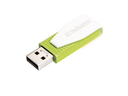 VERBATIM USB-Stick 32GB, Store'n'Go Swivel, grün Standard Speed 67x, Retail-Blister