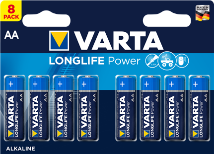 VARTA Batterie LONGLIFE Power AA / LR6 8er Pack
