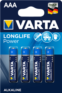 VARTA Batterie LONGLIFE Power AAA / LR 03 4er Pack